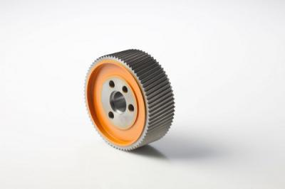 Rouleau acier SCM - 140 x 50 - Alésage: 30 - 4 V